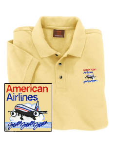 'American B777 Polo Shirt' from the web at 'http://skyshirts.com/images/AA777PoloShirt.jpg'
