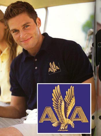 American 50's Eagle Logo Polo Shirt!