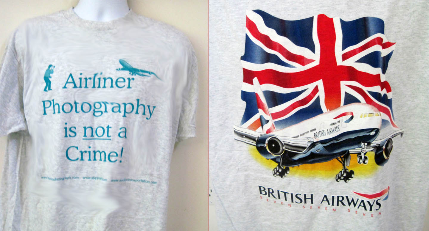 'Airliner Photo - with BA 777' from the web at 'http://www.skyshirts.com/images/AFINACwithBA.jpg'
