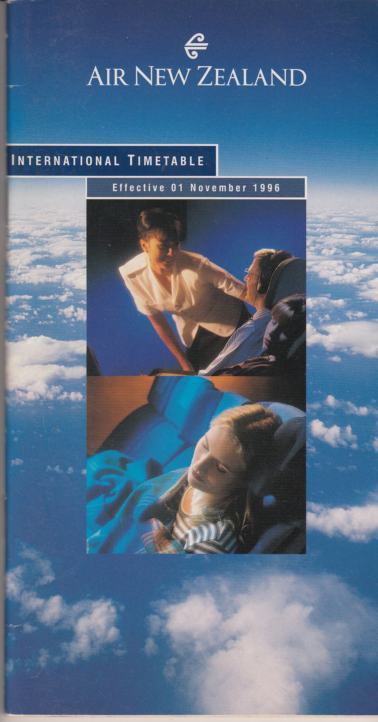 Air New Zealand Timetable -November 1996.