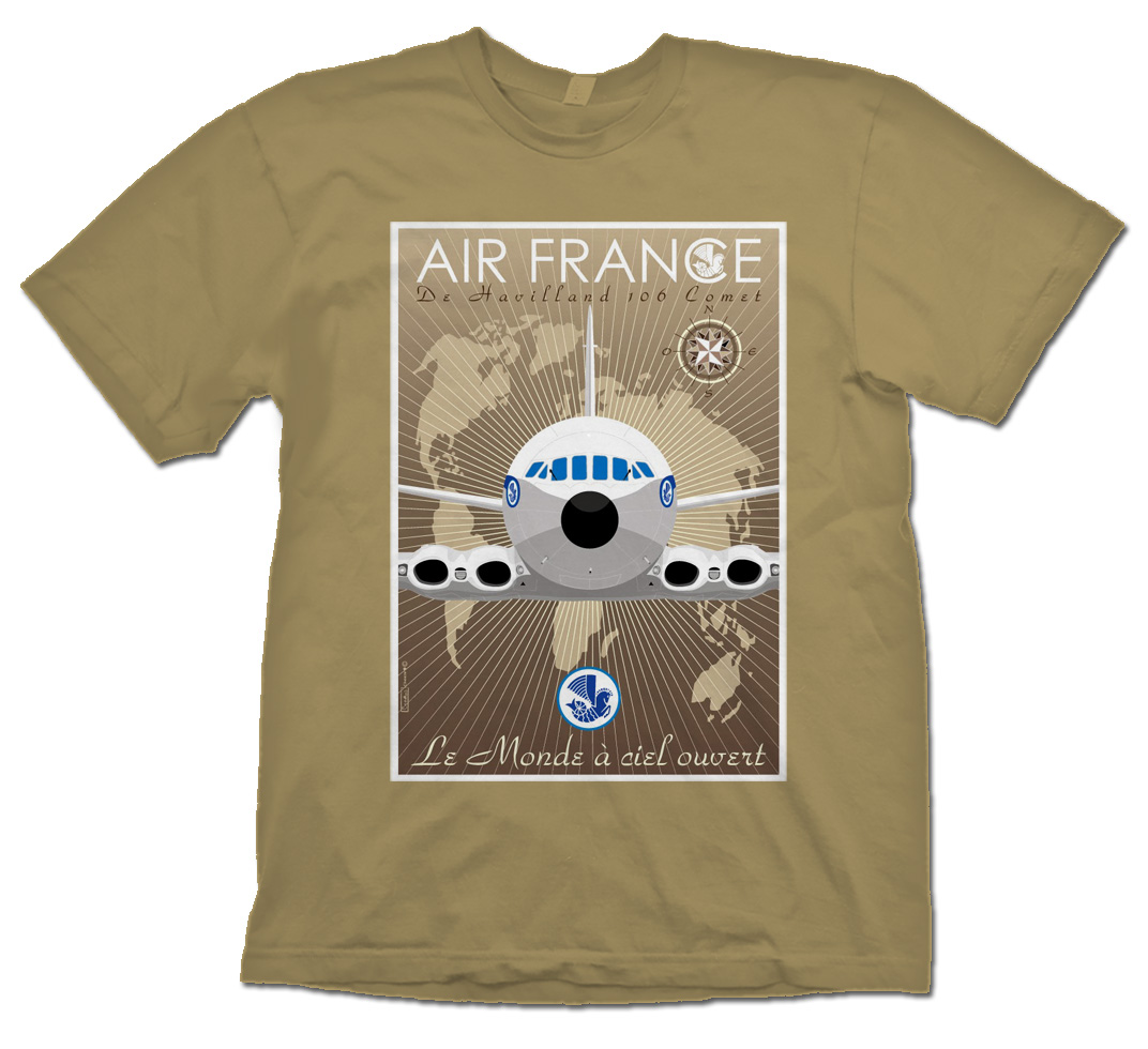 Air France DeHaviland Comet Poster Shirt