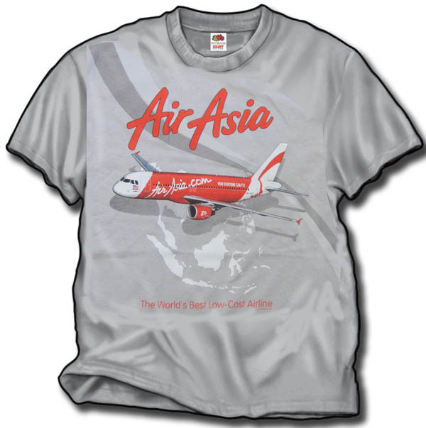 Air Asia Airbus Shirt on Gray!