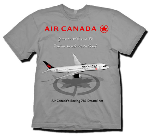 'Air Canada B-787 (new version)' from the web at 'http://www.skyshirts.com/images/AirCanada787_500.jpg'