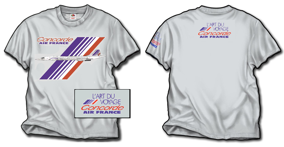 'Air France Concorde!' from the web at 'http://skyshirts.com/images/AirFrance_500.jpg'