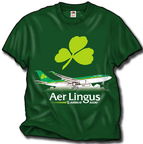'Aer Lingus A-330' from the web at 'http://www.skyshirts.com/images/AirLingus500.jpg'