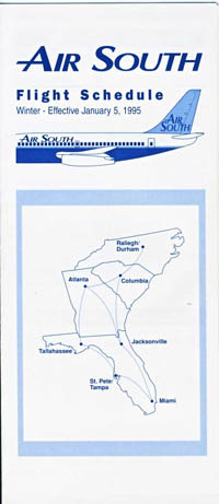 Air South Timetable -January 1995