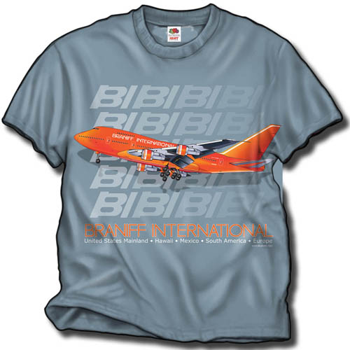 "'Braniff B-747SP ""Big Orange""' from the web at 'http://www.skyshirts.com/images/BNSP500.jpg'"