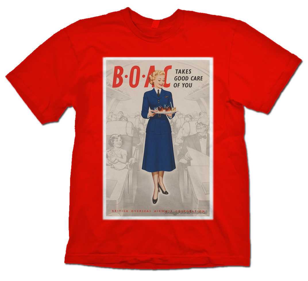 BOAC Stewardess Poster Shirt!