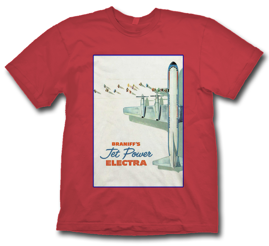 Braniff Electra Ad Poster Shirt