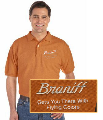 Braniff Polo Shirt!