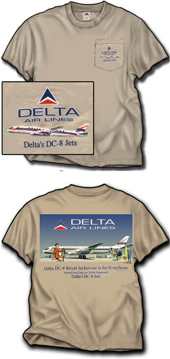 Delta DC-8 Pocket T-Shirt!