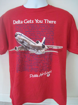 Delta 1980's Promo shirt (Red)!