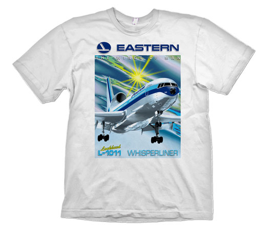 'Eastern L-1011 TriStar Old Version.' from the web at 'http://www.skyshirts.com/images/Eastern-L-1011-Old_500.jpg'