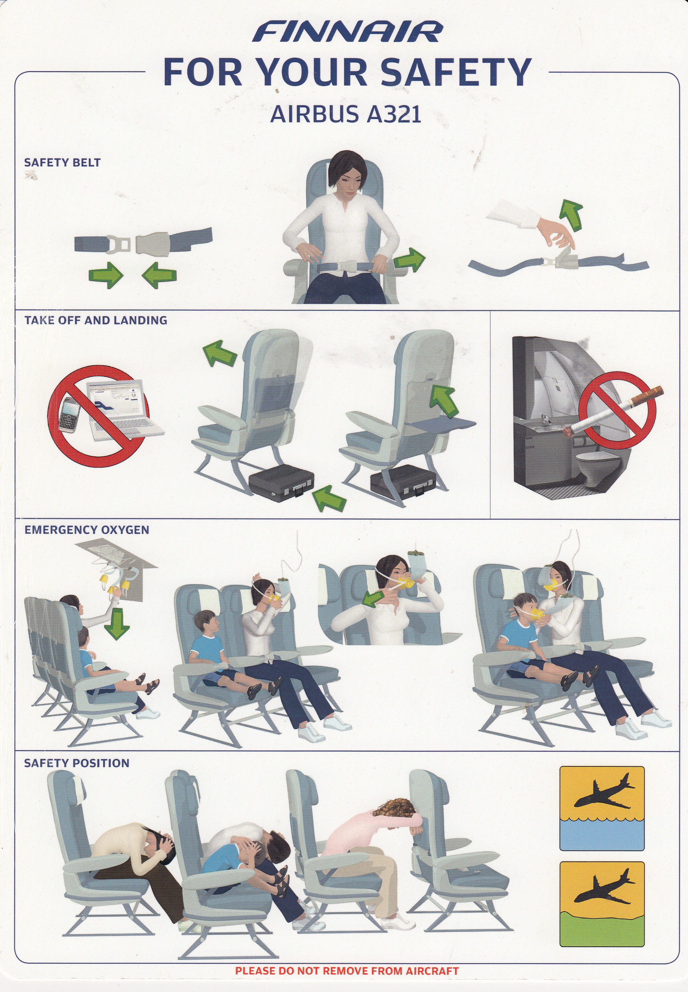 Finnair A-321 Safety Card