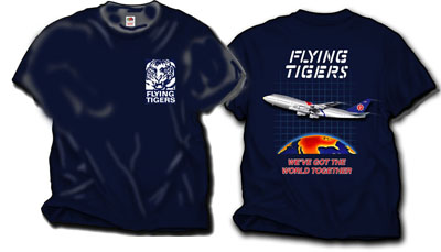 'Flying Tigers 747' from the web at 'http://skyshirts.com/images/FlyingTigers400.jpg'
