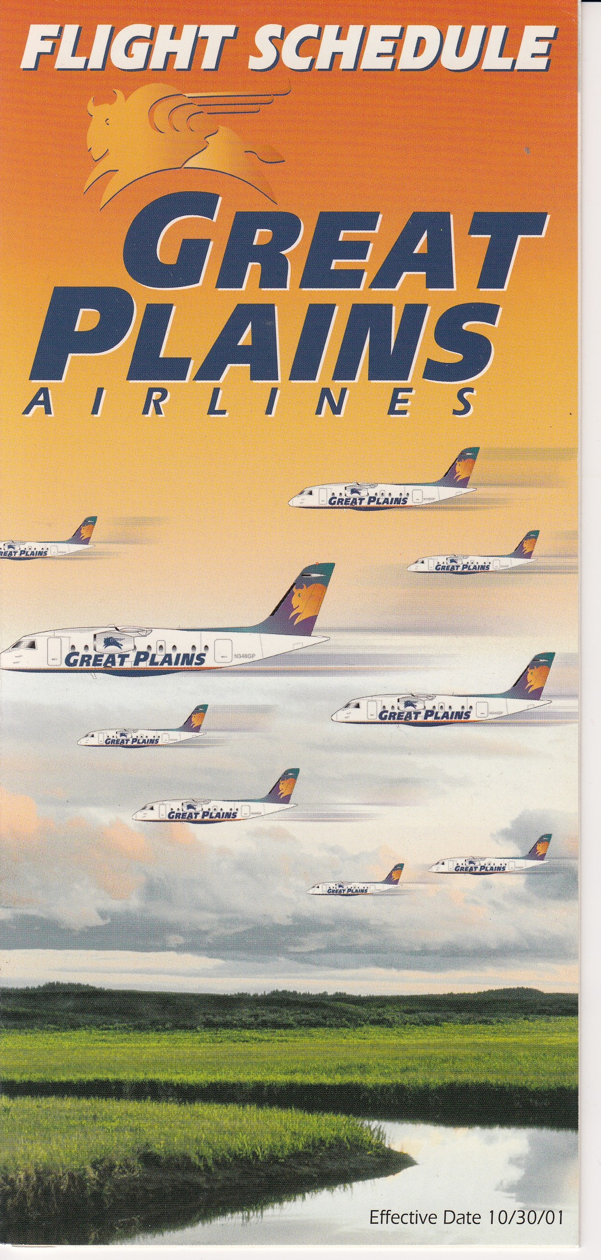 Great Plains Airlines Timetable -10/2001