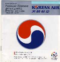 Korean Air Timetable 9/94