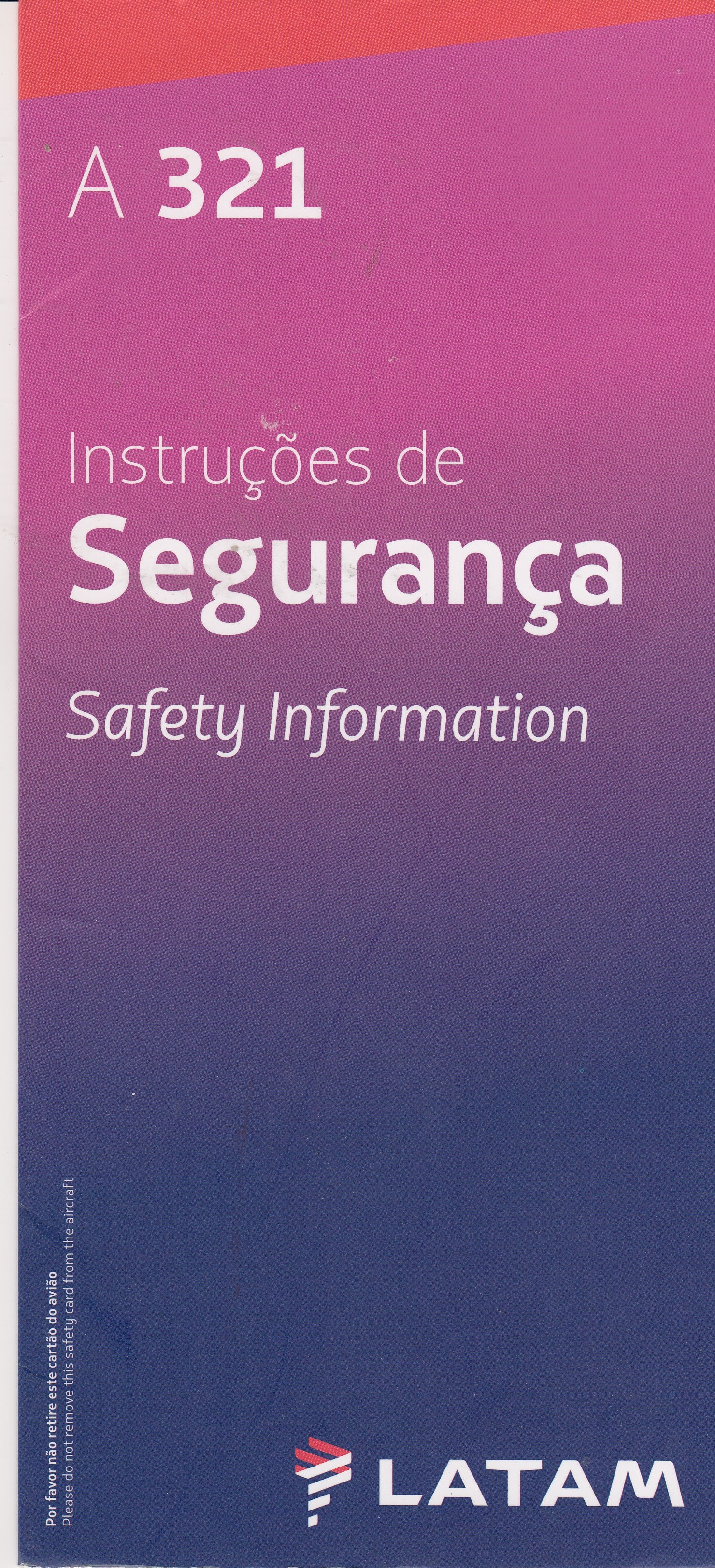 LATAM A321 Safety Card