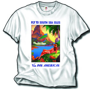 "Pan American ""South Seas"" poster shirt!"