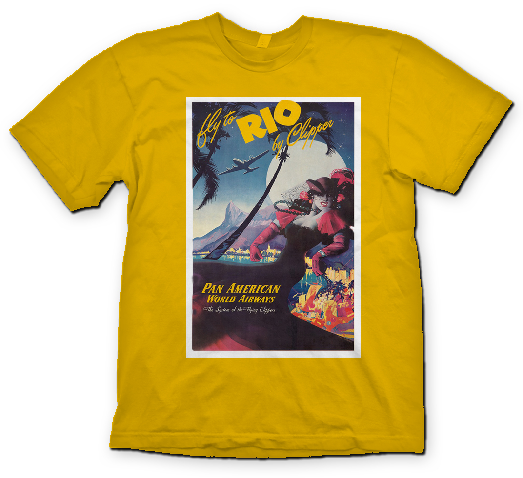 "Pan American ""Rio Girl"" shirt."