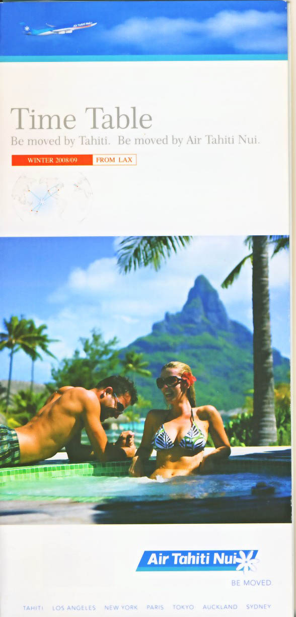Air Tahiti Nui Timetable Winter 2008/9
