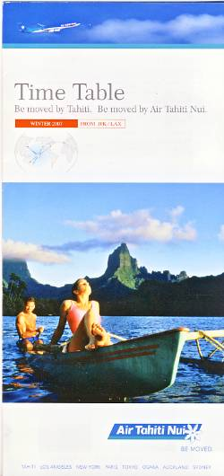 Air Tahiti Nui Timetable Winter 2007