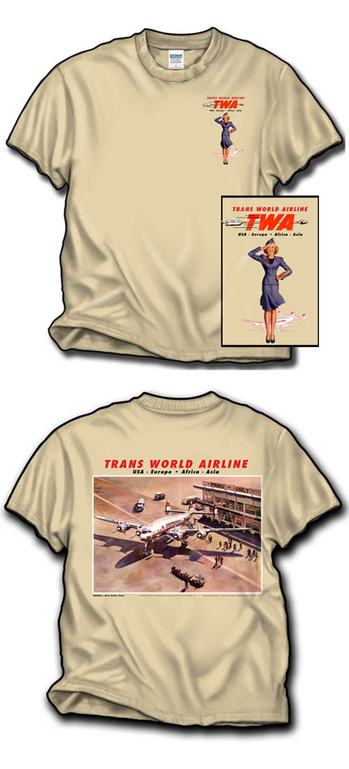 TWA at Orly Connie Shirt!