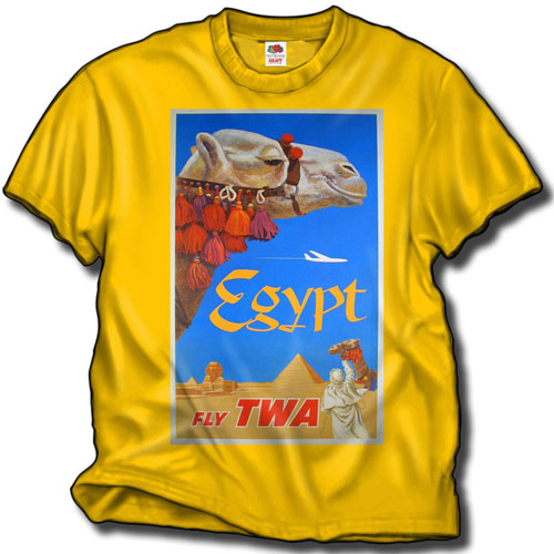 "'TWA ""Egypt"" poster shirt!' from the web at 'http://www.skyshirts.com/images/TWA_EgyptShirt500.jpg'"