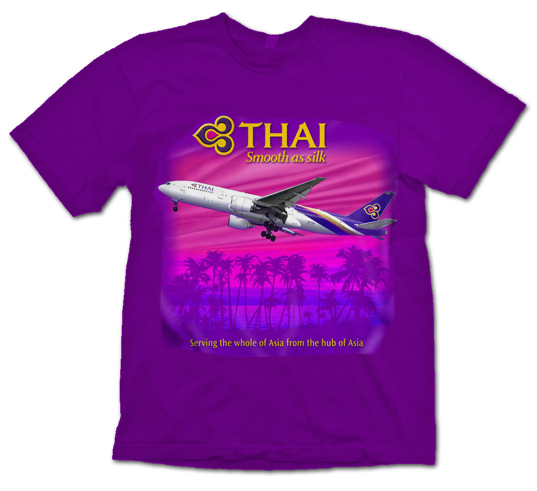 Thai B-777 shirt NEW LIVERY!