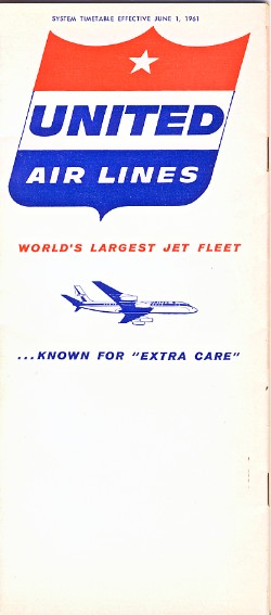 United Airlines Timetable -June 1961
