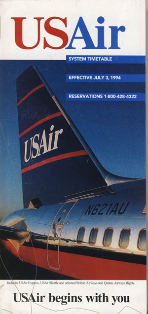 USAir Timetable 7/94