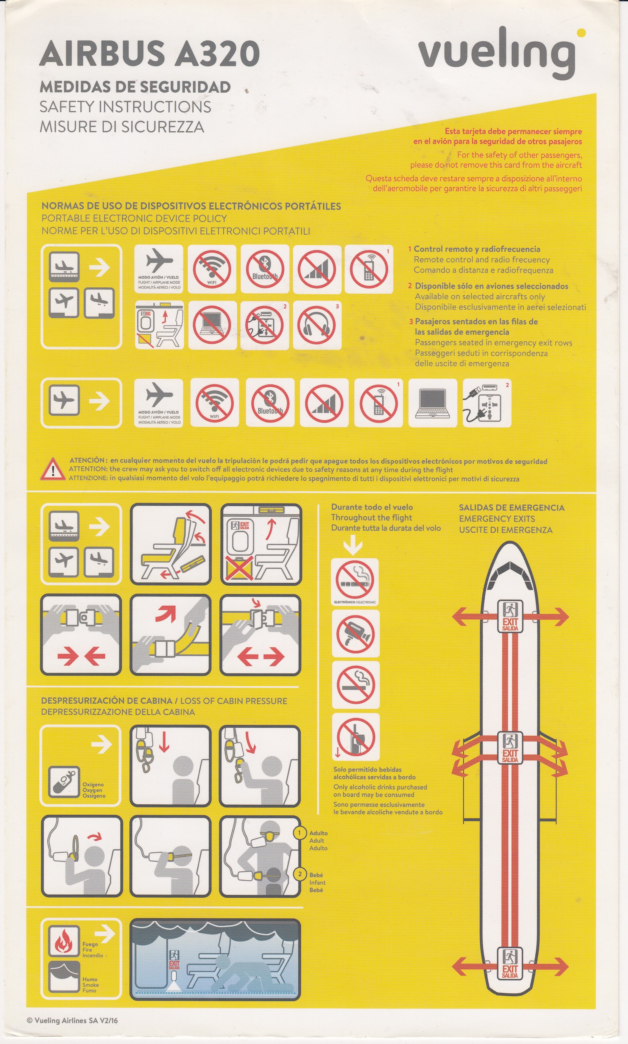 Veuling A-320 Safety Card