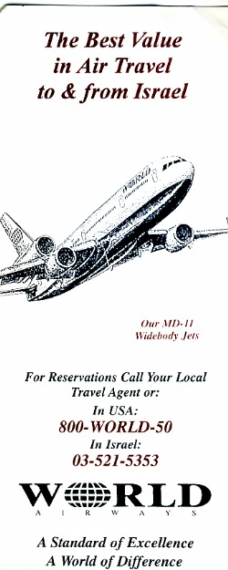 World Airways Timetable -Israel
