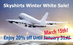 Winter White Sale, 20% off until March 1st!
